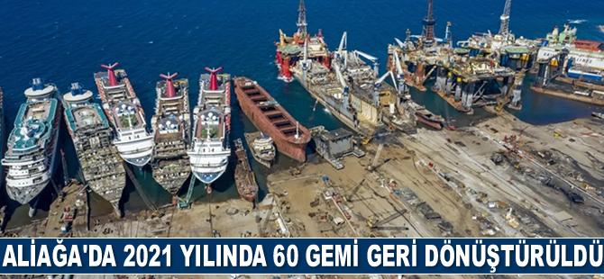 Aliağa'da 2021 yılında 60 adet gemi geri dönüştürüldü