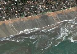 İşte Tsunaminin Uydu Görüntüsü