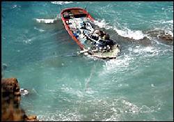 Balıkçı teknesinde 24 kaçak yakalandı