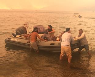 Bodrum'da botlar ve tekneler tahliye için seferber oldu