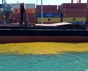 Mersin'de denizi kirleten gemiye 1 milyon 355 bin TL ceza kesildi