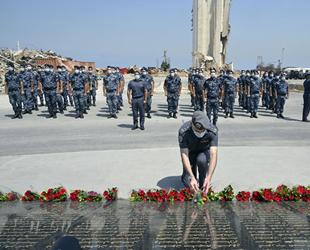 Beyrut Limanı'ndaki patlamada hayatını kaybedenler anıldı