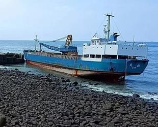 TA SHAN isimli gemi, Tayvan Boğazı'nda karaya oturdu