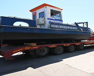 Kocaeli'den Bodrum'a deniz süpürgesi gönderildi