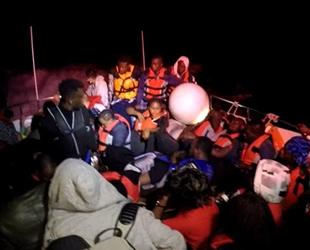 Bodrum'da 44 düzensiz göçmen kurtarıldı