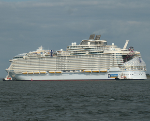 'Wonder of the Seas' yolcu gemisi, deneme seferine çıktı