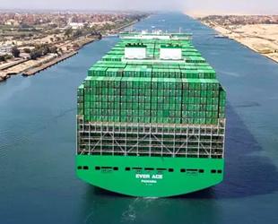 Ever Ace konteyner gemisi, Süveyş Kanalı'ndan geçti