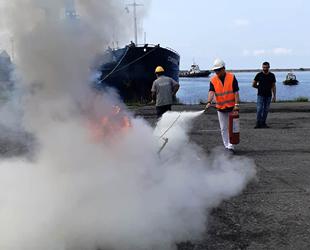 HOPAPORT'ta yangın söndürme tatbikatı gerçekleştirildi