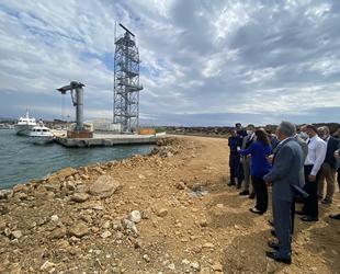 Enez Deniz Gümrük Kapısı rıhtımının inşası sürüyor