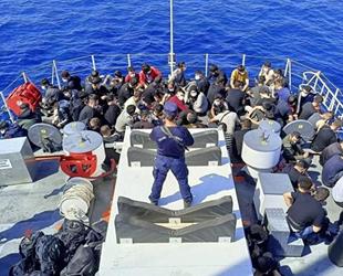 İzmir açıklarında 192 düzensiz göçmen kurtarıldı