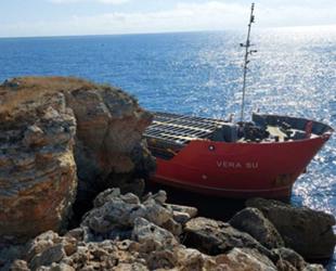 VERA SU isimli gemi, Bulgaristan'da karaya oturdu