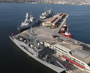İtalyan ve İspanyol savaş gemileri, İzmir Limanı'nı ziyaret etti