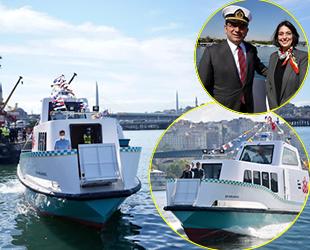 Yerli ve milli İBB Deniz Taksi suya indirildi