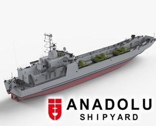 Anadolu Tersanesi, LCT çıkarma gemisini suya indiriyor