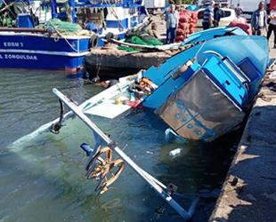 Zonguldak Bozhane Limanı'nda tekneler çatıştı