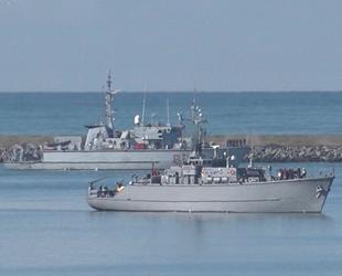 NATO'ya bağlı savaş gemileri, Samsun'dan ayrıldı