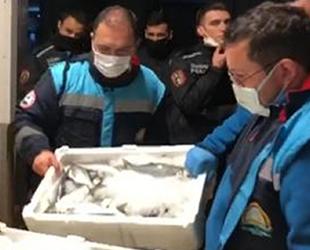 Gürpınar Su Ürünleri Hali'nde 5 ton balığa el konuldu