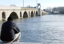 Meriç Nehri yükseldi...