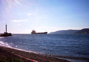 Boğaz'a doğalgaz tankeri engeli