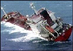 """Yan yatan Ofer'in gemisi """"Ece"""" battı"""
