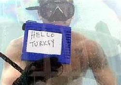 Su altından Türkiye'ye selam