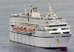 Rum yolcu gemisinde yangın