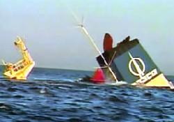 Yunan gemisi G.Afrika'da battı