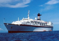 """Starflayer"" yolcu gemisi Bodrum'da"