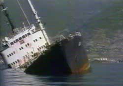 Ege'de Yük Gemisi Battı