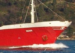 "Batan gemi ""HAN"" GENTA Denizcilik'in"