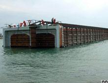 İki tüp tünel yüzer durumda