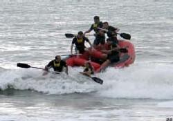 Karadeniz'de rafting antremanı