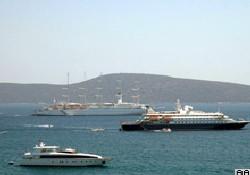 Lüks yolcu gemileri Bodrum'da