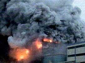 Dilovası'nda solvent tankında yangın