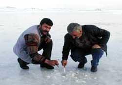 Abant gölü de buz tuttu