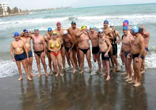 Datça'da kış yüzme maratonu yapıldı