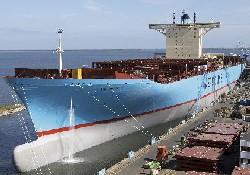 Emma Maersk ilk yolculuk için hazır