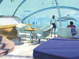 Deniz altında 6 yıldızlı tatil keyfi