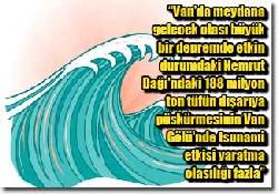 Van Gölü'nde tsunami olasılığı