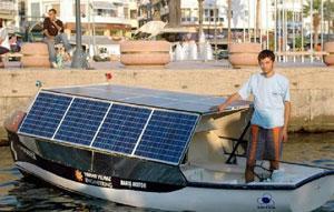 Güneş enerjili tekne denize indirildi