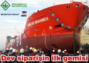 Mubariz İbrahimov gemisi denize indirildi
