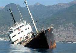 M/V Ulla gemisi gönderiliyor