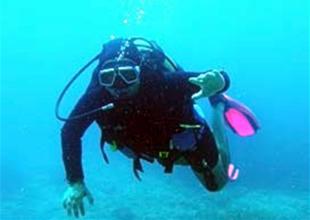 Dalan dalgıcın denizde yaşam savaşı