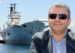 """""""HMS Invincible"""" karaya vurduruldu"""