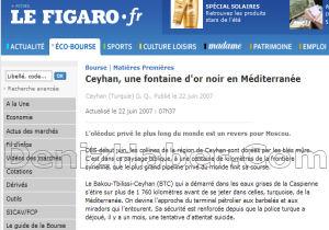 """Le Figaro: """"Boğaz'da Ekolojik Tehlike"""""""
