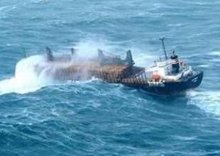 Kumburnu'nda yük gemisi karaya oturdu