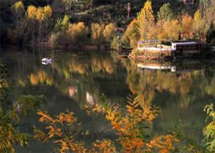 Öpüşenlere kızan turizmci gölü ikiye ayırdı