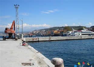 BUDO Mudanya'da iskele yapımına başladı