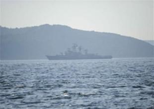Rus Savaş Gemisi, Ege Denizi'ne açıldı
