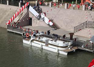 Asi Nehri'nde teknede nikah töreni başladı